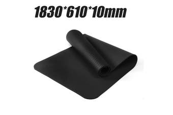 【Free Shipping + Flash Deal】 183x61x10cm Yoga Mat Pad Fitness Shockproof Non-slip Exercise Gym Meditation(black,183x61cm)