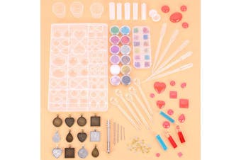 107 Pieces Of Diy Crystal Glue Glue Tool Set Time Gem Jewelry Silicone Mold Combination With Drill Customize Decoration