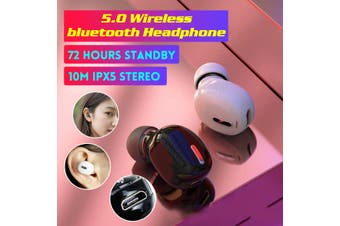 Wireless bluetooth Headset 5.0 Earphones TWS X9 Earbuds Waterproof Headphones(white)