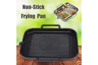 Non Stick Coating Aluminum Frying Grill Pan BBQ Plate Cookware Induction US