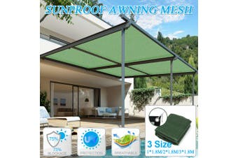 2*1.8M Sunproof Sun Shade Sail Awning Rectangle Mesh Net Home Garden Canopy 2*1.8m(2x1.8m)