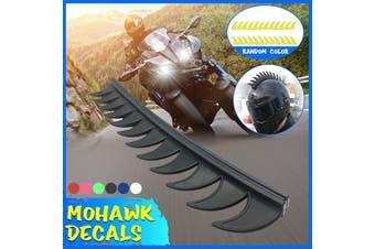 Reflective Decals Sticker Dirt Biker For Helmets Mohawks Mohawk Spike Rubber (black,NOT INCLUDED THE HELMET)