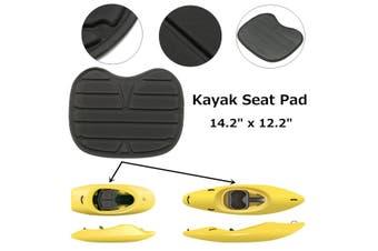 Soft Padded Detachable Cushion for Kayak Canoe Drift Boat 14.2x12.2x0.3inch(black,1pc.)