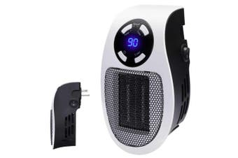 600W Portable Ceramic Mini Space Air Heater Plug-in Wall-Outlet Portable with Timer and LED Display For House Home Room US Plug