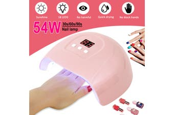 Professional 54W Nail Lamp UV LED Light Nail Polish Dryer Gel Curing Machine US(pink,380W Nail Lamp Only)