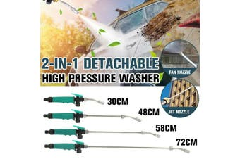 2 in 1 Pressure Car Washer Nozzle Washing Water Power Washer Air Conditioning Home Dust Cleaning Tool(72cm 2-in-1 High Pressure Washer)