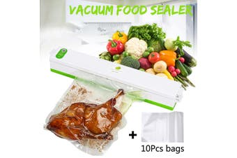 Vacuum Sealer Machine Home Film Sealing System Meal Fresh Packaging Vacuum Sealer(green,EU Plug)