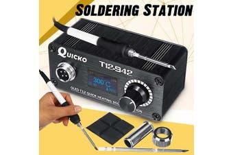 75W T12-942 MINI OLED Digital Soldering Station T12-907 Handle with T12-K Iron Tips Welding Tool AC 100V-240V