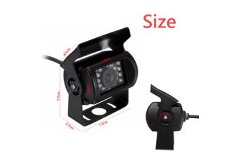 4 Pin Heavy Duty 12-24V CCD Rear View Color Camera 18 IR LEDs IP68 For Truck Bus(Side View)