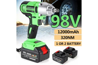 【Free Shipping + Flash Deal】Cordless Impact Wrench Machine Set Electric Drill Hammer Tool Battery W/ LED Light (with 1 Battery)