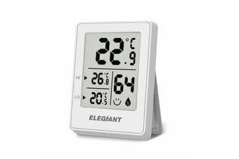 ELEGIANT EOX-3301 Home Confort Megnet Digital Indoor Hygrometer Thermometer Humidity and Temperature Sensor Monitor(white)