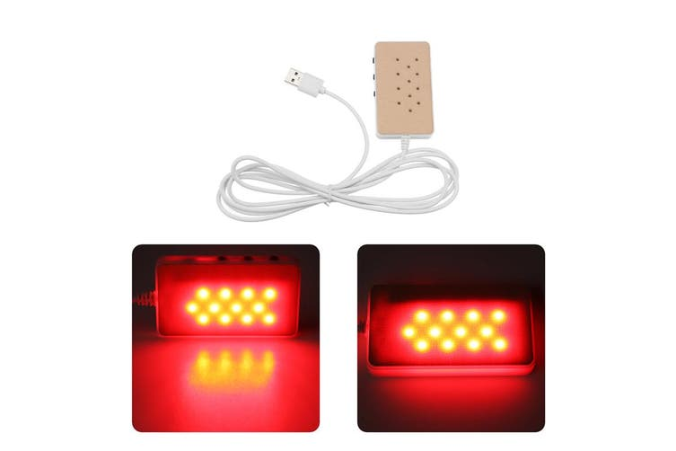USB Infrared Heating Lamp Red Light Therapy Light joints Arthritis Muscle Pain Relief Health Bulb Physiotherapy Health Skin Care(12LED)