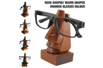 Wooden Glasses Holder Nose-Shaped Spectacles Glasses Holder Stand Gift Sheesham Wood