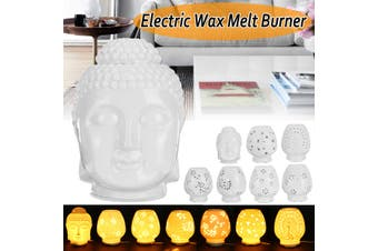 White Ceramic Electric Oil Warmer Burner Wax Cubes Melts Therapy Lamp(064-Z)