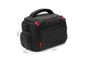 DSLR SLR Camera Waterproof Shoulder Bag Carrying Case For Canon Nikon (Type B Black M)
