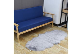 【September New Arrival】(GREY-1800g-Thick) 150*70cm Super High Quality Rectangle Modern Sheepskin Rug Fluffy Floor Mat Soft Chair Sofa Bedroom Floor Carpet(lightgrey,70x150cm)