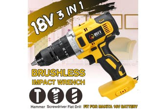 Drills 3in1 18V Brushless Cordless Compact Impact Combi Drill Driver For Makita Battery(Body only(Battery Not Included))
