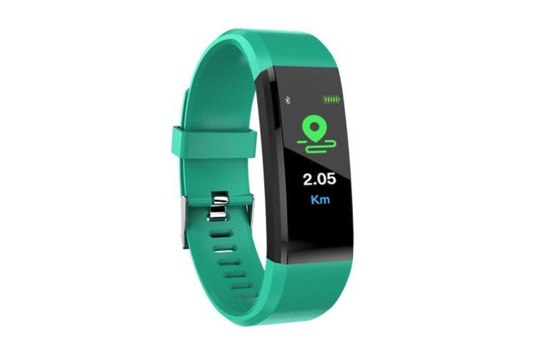 Smart Watch Activity Tracker Waterproof Heart Rate Monitor bluetooth Fitness(green)