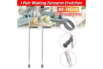1 Pair Adjustable Forearm Crutches with Pivoting Closed-Cuff Ergonomic Comfortable Wrist Handle, Heavy Duty for Standard and Tall Adults, Lightweight Aluminum ( suitable for the people 140-190cm)