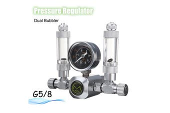【Free Shipping + Flash Deal 】220V G5/8 Aquarium CO2 Pressure Gauge Gas Regulator Dual Bubble Solenoid Valve NEW
