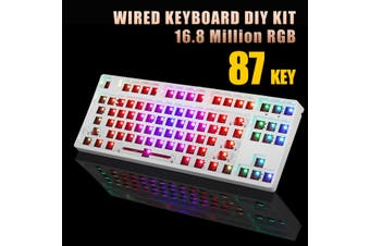 RGB Hot Swap Programmable Wired Bluetooth Replacable Space Mechanical keyboard DIY kit