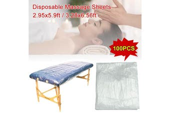 100pcs 90x180/100x200cm Disp0sable Massage Table Sheets Transparent Bed Cover