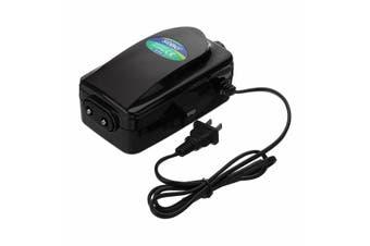 2/4 Holes 12W Adjustable Air Output Aquarium Fish Tank Oxygen Pump Low Noise Air Compressor Pump Aerator SB748(2 holes 12W)