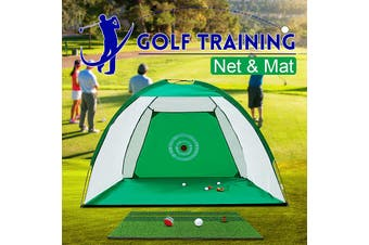 7ft/2m Foldable Golf Practice Cage Driving Chipping Training Aid Indoor Outdoor(green,2m Net Only)