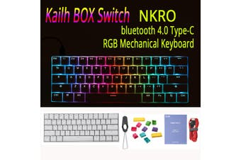 Anne Pro 2 Kailh BOX Switch 4.0 RGB Mechanical Gaming Keyboard Bluetooth -Red /Brown /White Switch(black,RGB Brown Switch)