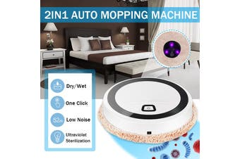 Portable Intelligent Domestic Multi-Function Cleaner Machine With UV Lgihting Floor Mopping Robot Automatic USB Charge Sweeper for Dry and Wet Mopping Home(Mopping Machine with Mop)