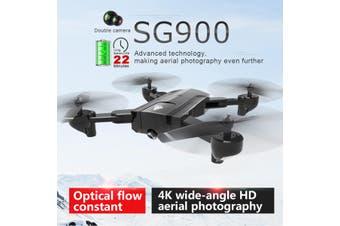 SG900 2200mAh 2.4G Wifi FPV Drone 4K HD Camera Foldable RC Quadcopter Drone w/ Bag -- White / Black【Storage bag / Color box】(white,NO Camera NO Battery)