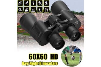 60x60 Zoom Night Vision HD Binoculars Optical Telescope Outdoor With Carry(black)