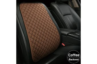 Flax Car Seat Cover Protector Front Seat Back Cushion Pad Mat For Car Truck Suv -- Backrest - coffee