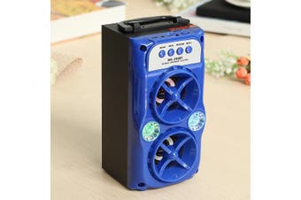 Portable Wireless Bluetooth Stereo Speaker 10W Support USB/TF/AUX/FM Radio TF Card Loudspeaker Sound System Music Outdoor(blue)