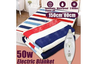 【Free Shipping + Flash Deal 】50W 150cm*80cm Electric Heated Blanket 3 Gears Controller Waterproof Bedding(150cm by 80cm)