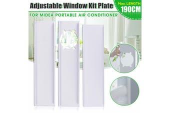 3Pcs 190cm Adjustable Window Slide Kit Plate For Midea Portable Air Conditioner(3Pcs Window Plate)