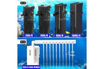 220V Aquarium Filter Pump Built-in Fish Tank Water Cycle Clean Submersible Pump Increase Oxygen Filter Pump 1000L/H(black,Internal Pump 1000L/H)