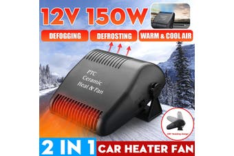 180° Rotate 150W 12V Potable Auto Heater Defroster Electric Fan Heater Windshield Evaporation Ventilation For Car Truck Van (200W 12V)