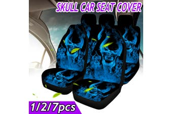5-Seats Full Set Car Seat Covers PU Leather For Interior Accessories(H 2PCS Seat Cover)