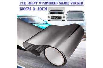 150cmx20 Car Front Windshield Sunshade Sticker Window Sun Visor Strip Tint (black,1 pc)