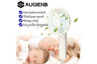 AUGIENB Electric Fan USB Fan Child Hand Fan Foldable Portable Rechargeable Mini Fan(white)