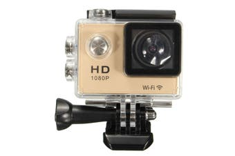 【Big Discount】SJ5000 1080P FHD WiFi Mini DV Car Action Waterproof Sport Camera HDMI 30M (gold)