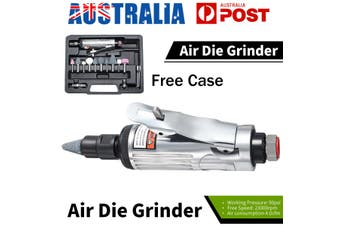 16Pcs 1/4'' Air Compressor 90psi Die Grinder Rotary Tool Set With Stones & Case
