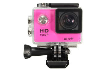 【Big Discount】SJ5000 1080P FHD WiFi Mini DV Car Action Waterproof Sport Camera HDMI 30M (pink)