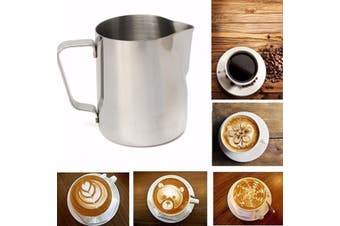 【Free Shipping + Flash Deal】350ML Coffee Milk Stainless Steel Frothing Pitcher Mug Measuring Jug Craft Art