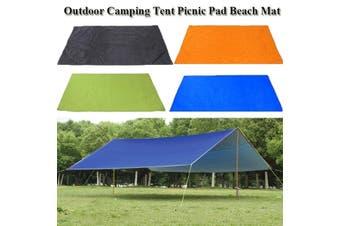 210*300cm Waterproof Tent Tarp Awning Sun Shade Rain Shelter Camping Mat Pad(green,Only Sky screen 300 x 300cm Type 1)
