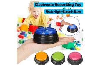Squeeze Led Recordable Talking Sound Button Game Buzzer For Kids Interactive Toy(blue)