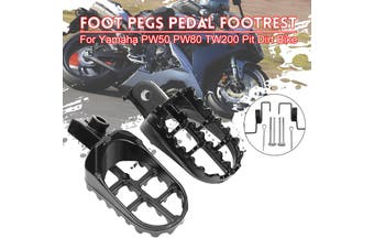Black Foot Peg Footrest Pedals Assembley For Yamaha PW50 PW80 For Honda(black)