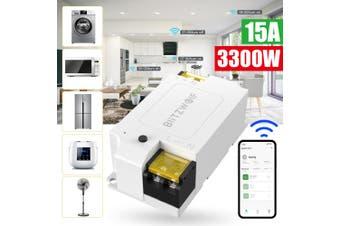BlitzWolf BW-SS1 3300W 15A Basic DIY WIFI Wireless Switch Smart Home APP Remote Control Timer Module Socket Work with Amazon Echo Google Home IFTTT(1PC)
