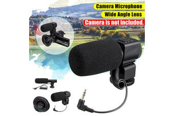 3.5mm External Stereo Microphone MIC For Canon DSLR Camera DV Camcorder Small microphone / large microphone / wide-angle lens(Large Microphone)